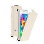 Вертикальный флип чехол для Samsung Galaxy S5 mini белый DEPPA